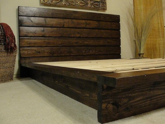 Creative wooden bed frames deluxe diy rustic bed frame more oypjfix