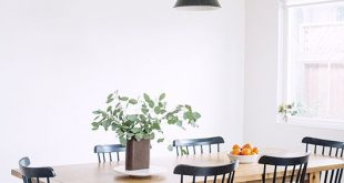 Cute black dining chairs with rustic wood table kkriwog