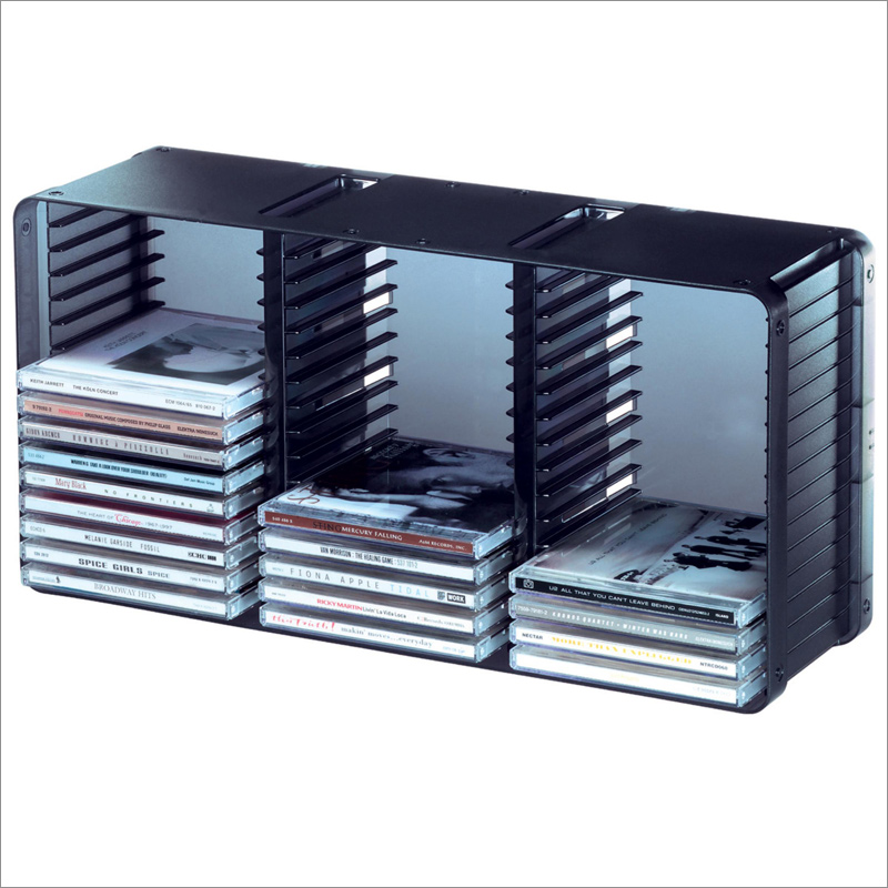 Cute domino 45 cd storage rack in black by atlantic 36635731 pywbokw