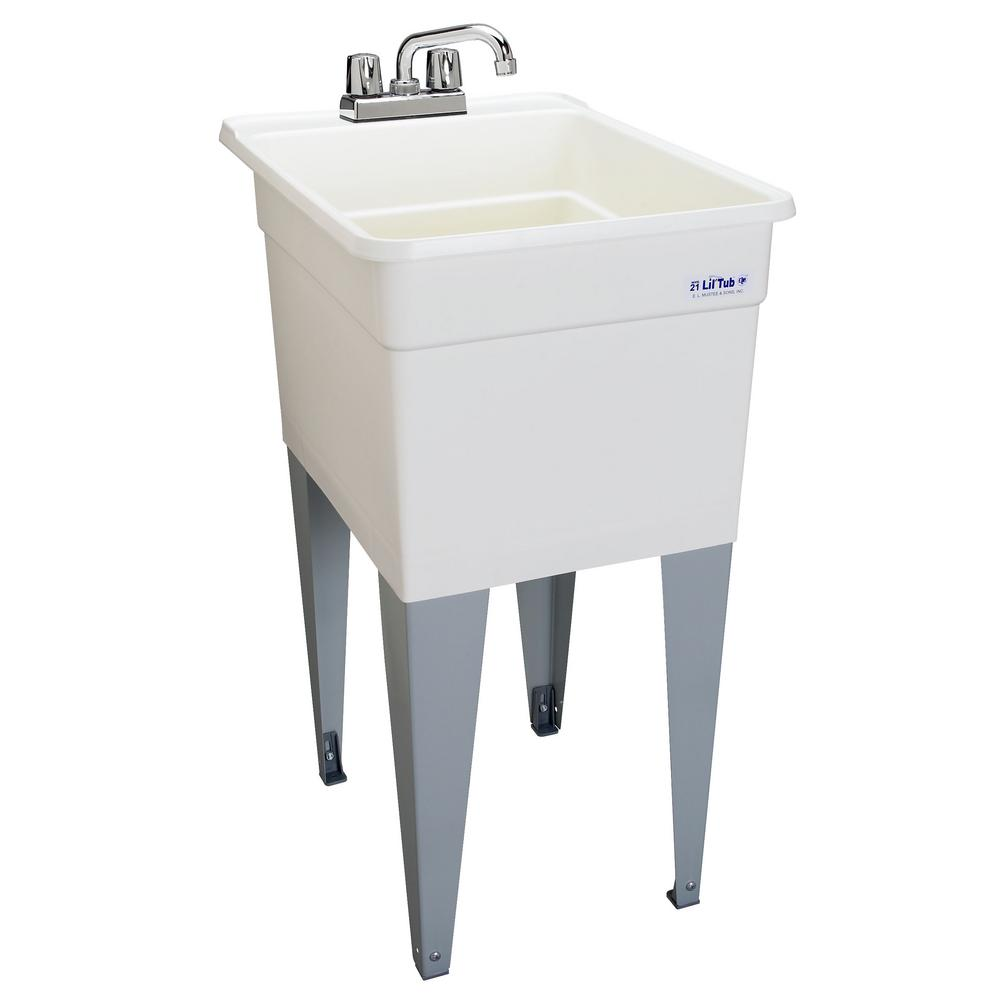 Cute laundry tubs polypropylene floor mounted laundry tub in white zlsaqsf
