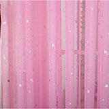 Cute pink curtains kids room window curtain decoration rod pocket process multiple sizes star  voile orawskg