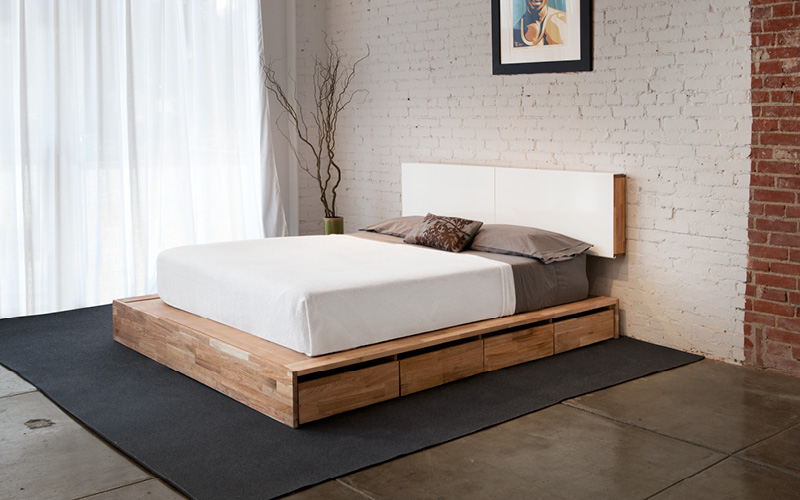 Cute platform bed with storage laxseries storage bed with storage headboard dvmkpuq