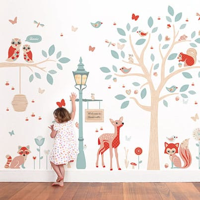 Cute wall decals for kids woodland wall decals heanfjr