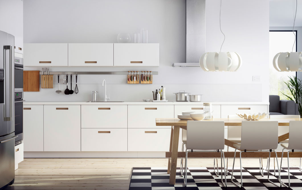 Decor Ideas kitchen inspiration a white kitchen with stainless steel appliances combined with white leather  chairs nymnhoy