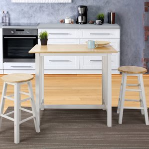 Design Ideas bar table and chairs sigrid 3 piece counter height pub table set lomrfqz
