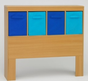 Design Ideas twin headboards 4d concepts twin-size storage headboard with blue canvas drawers bpgpfcr