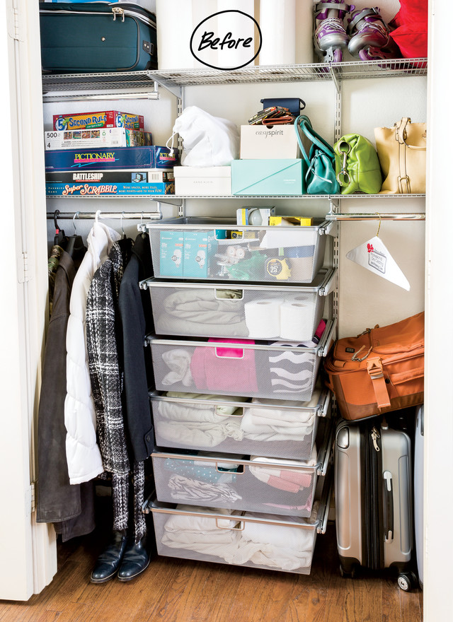 Elegant closet organization ideas everything from purses, rollerblades, games, luggage and extra toilet paper  was stored jatlquy
