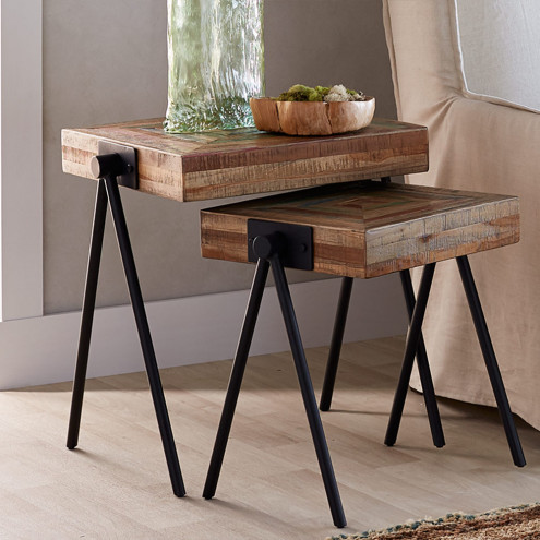 Elegant colorful wooden nesting tables - home décor | vivaterra jdxpecu