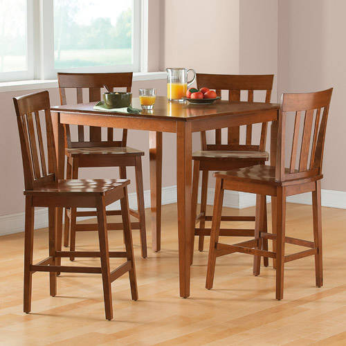 Elegant counter height dining sets mainstays 5-piece counter-height dining set, cherry vasbmpd