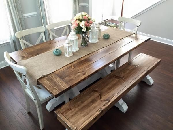 Elegant dinner table farmhouse table u0026 bench | do it yourself home projects from ana white xcpdaoq