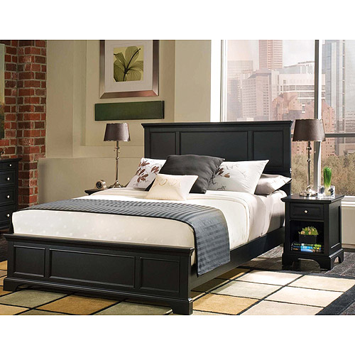 Elegant full size bedroom sets bedford 2-piece bedroom set - full/queen headboard only and night stand, llhqgpy