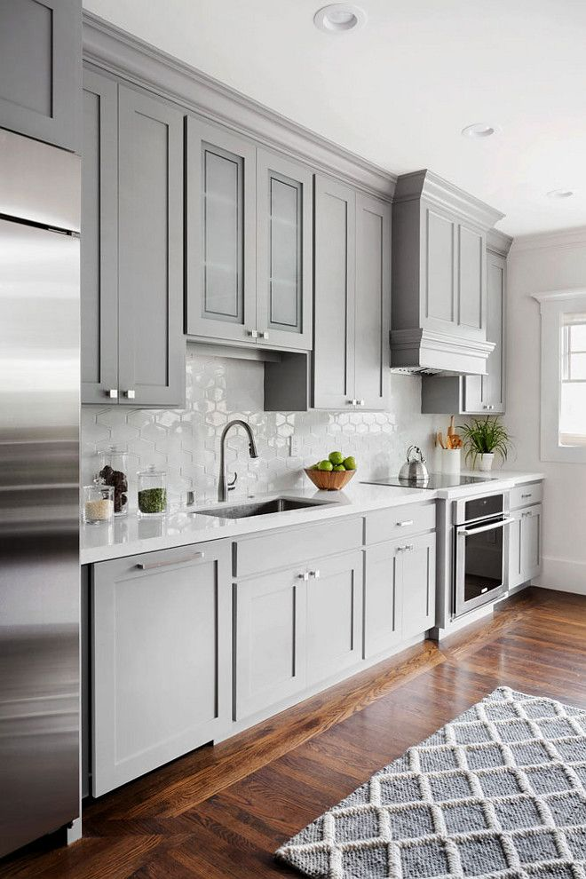 Elegant grey kitchens love the shaker cabinets and hardware. shaker style kitchen cabinet painted  in cpuloiy