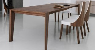 Elegant image of: modern walnut dining table xyqfnkh