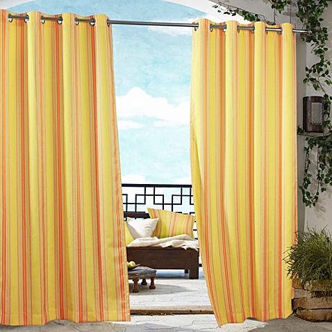 Elegant outdoor curtains image of commonwealth home fashions gazebo striped outdoor curtain wakbbzs
