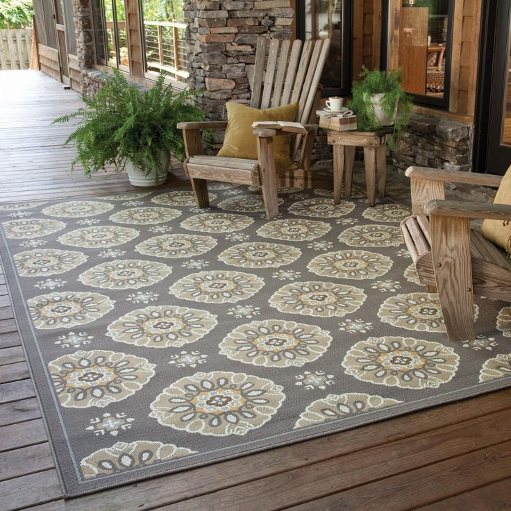Elegant patio rugs this medallion motif outdoor/indoor rug by oriental weavers will harmonize  your patio, qrtvkev