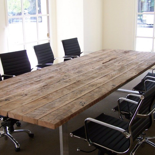 Elegant reclaimed wood table reclaimed wood conference table with chairs zfntkle