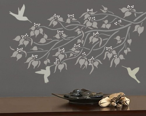 Elegant stencils for walls hummingbirds wall stencils reusable diy home decor ugysnec