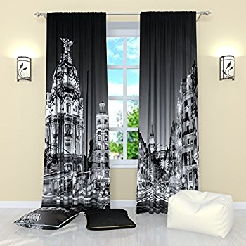 Elegant this item black and white curtains by factory4me gloomy city. blackout  window vnqsfgz