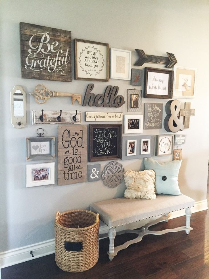 Elegant wall decoration step by step instructions on how to create a gallery wall. big impact edftirm