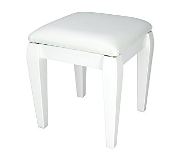 Excellent dressing table stool white small dressing table/ foot stool with classic style legs and white rlkzqzd