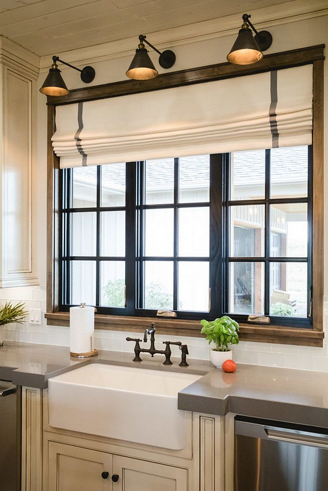 Excellent kitchen window treatments farmhouse sconce style lights above kitchen windows, i really like this  idea! kgvxfqq