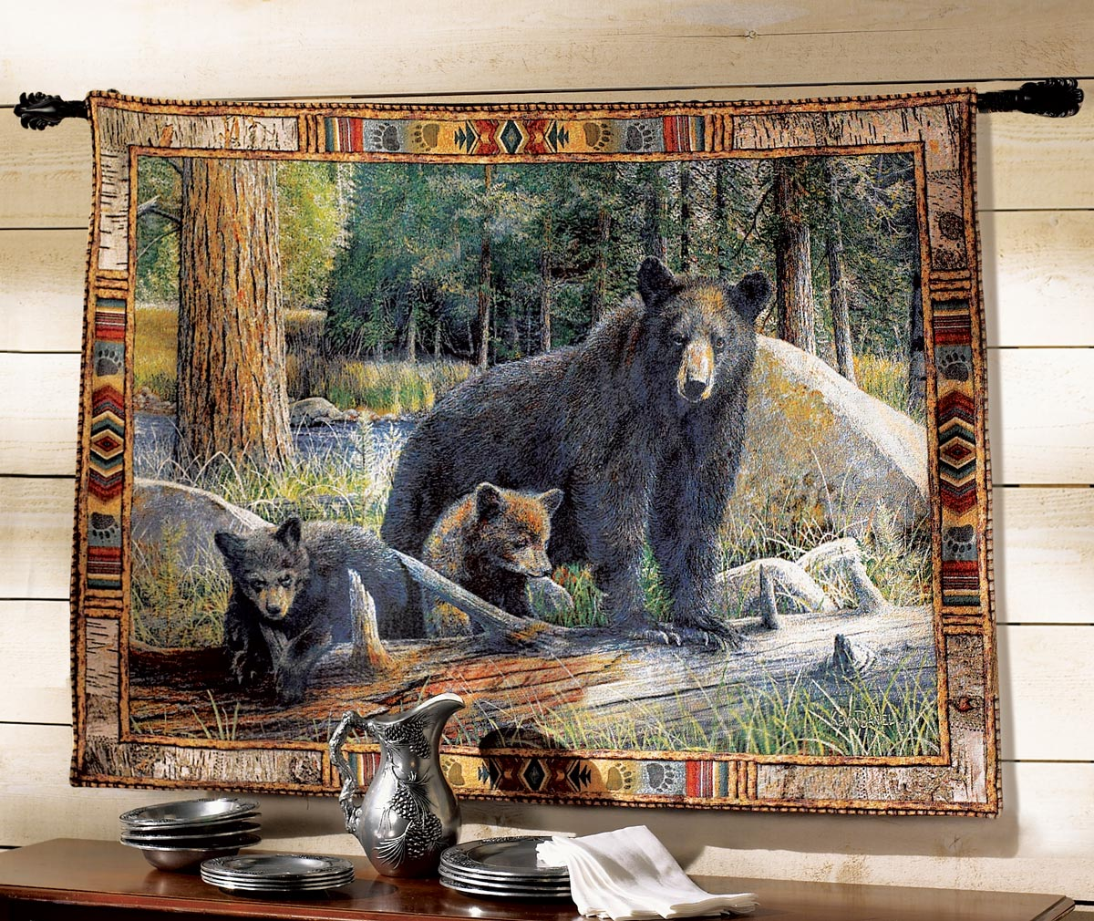 Excellent tapestry wall hangings black bear tapestry wall hanging ghjdmfy