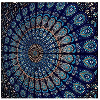 Excellent tapestry wall hangings blue tapestry wall hanging mandala tapestries indian cotton bedspread  picnic bedsheet blanket gaemhbo