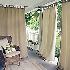 Fancy outdoor curtains elrene matine indoor/outdoor tab top window curtain panel ghslzlv