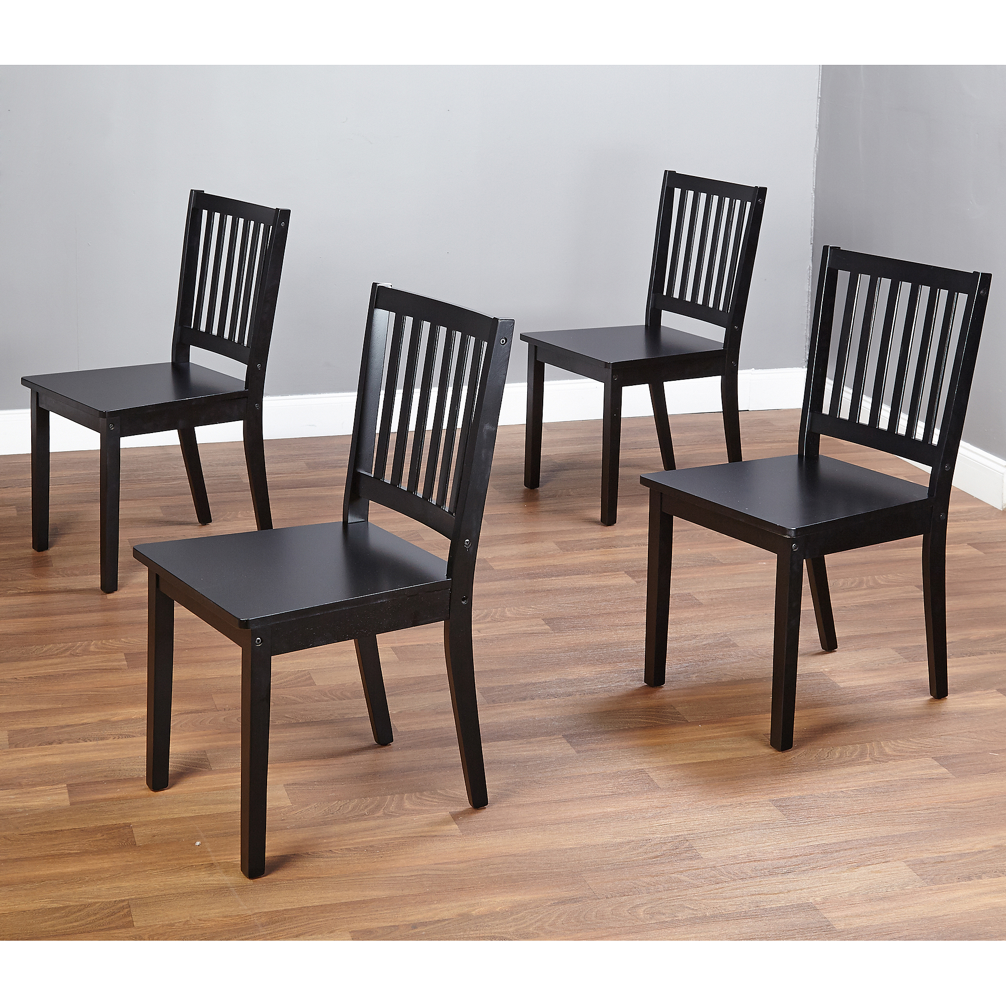 Fashionable black dining chairs shaker dining chairs, set of 4, black - walmart.com pjzqogl