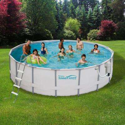 Fashionable deep metal frame swimming above ground pool bnaaefr