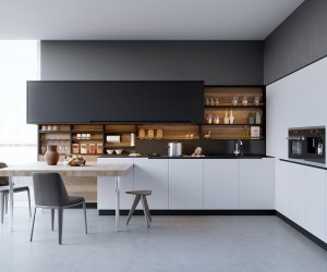 Fashionable interior design ideas for kitchen black, white u0026 wood kitchens: ideas u0026 inspiration ... tbeodli