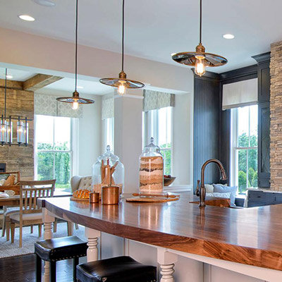 Fashionable kitchen light fixtures kitchens are the new family room rrmhvah