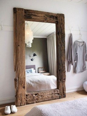 Fashionable large wall mirrors raw wood turned into a mirror. could purchase a mirror obkttwh