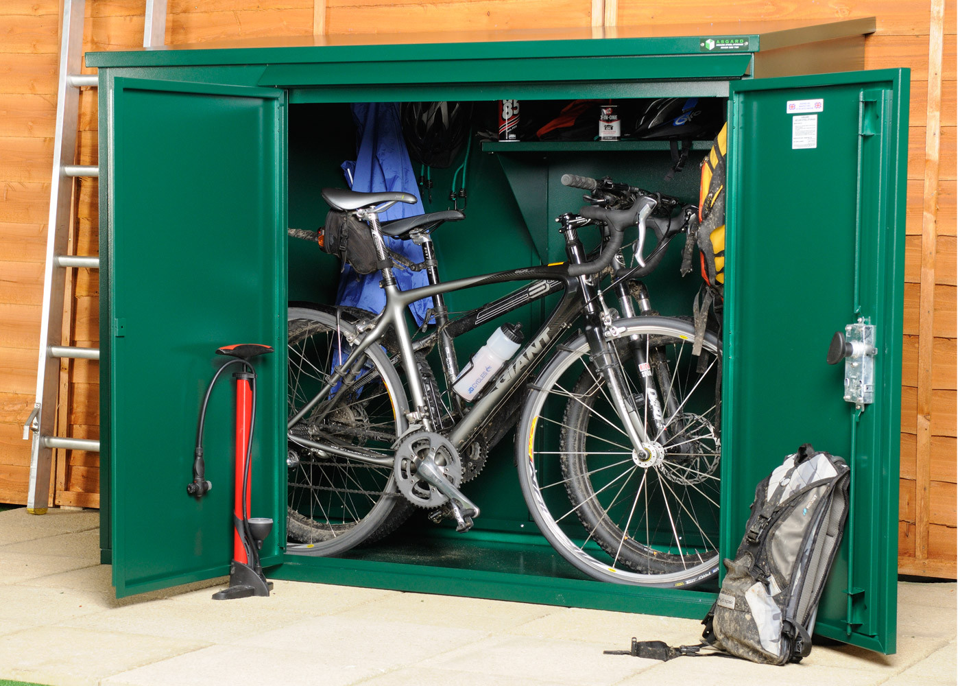 Fashionable metal bike shed, storage for storing 3 bikes ... zkhzmhy