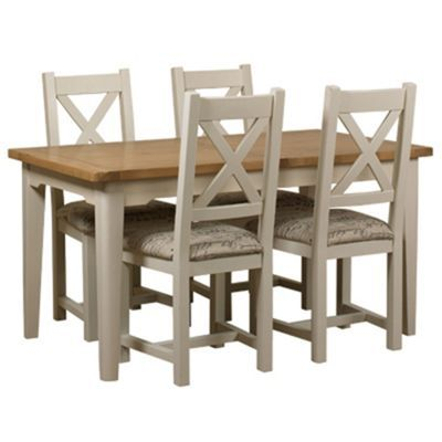 Fashionable small table and chairs oak and painted u0027wadebridgeu0027 small extending table and 4 chairs with  printed frjexrf