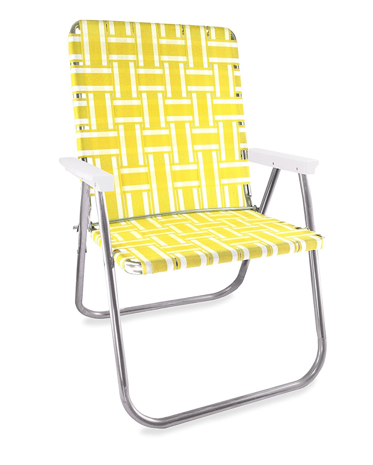 Great amazon.com: lawn chair usa webbing chair (deluxe, charleston with green  arms): patio, pozoecj