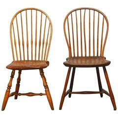 Great assembled pair of american bow-back windsor chairs tsylxgm