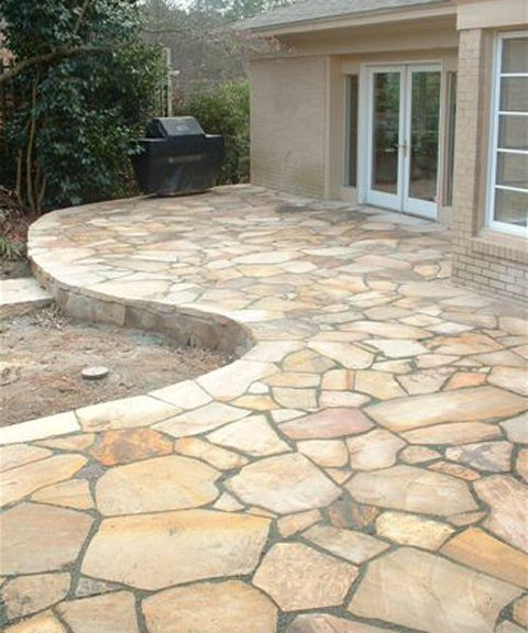 Great flagstone patio instead of a wooden deck. ltvtuzh