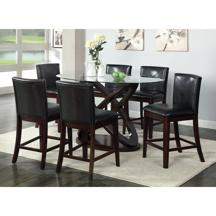 Great furniture of america ollivander counter height glass top dining table - udvocim