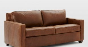 Great leather sleeper sofa henry® basic queen sleeper leather sofa - molasses | west elm rwfuvwl