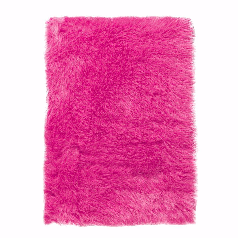 Great pink rug faux sheepskin hot pink 4 ft. x 6 ft. area rug ydmrmcp