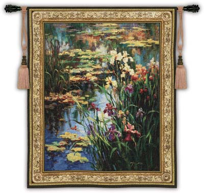 Great tapestry wall hangings summer lily pond lg floral landscape tapestry wall hanging by vail oxley hzhzjxm