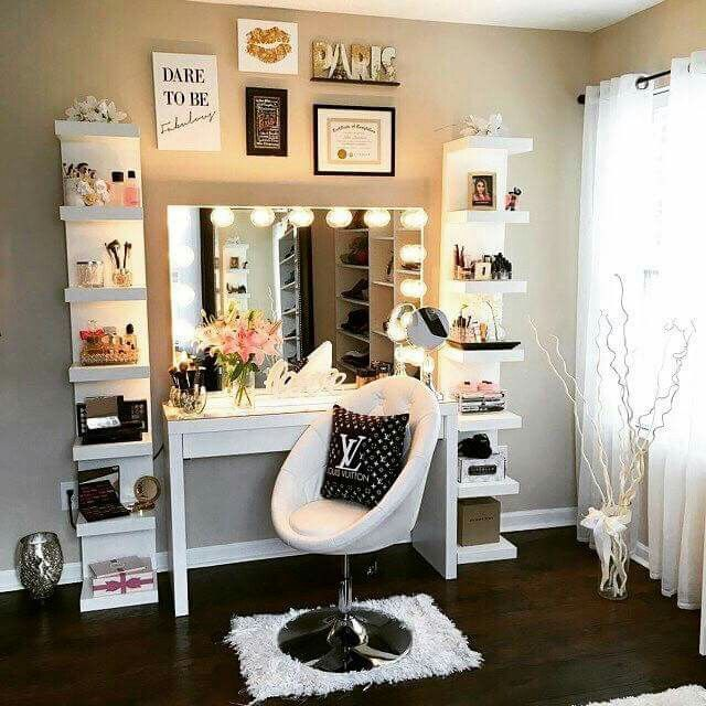 Great teen rooms makeup room inspiration more rnpoouz