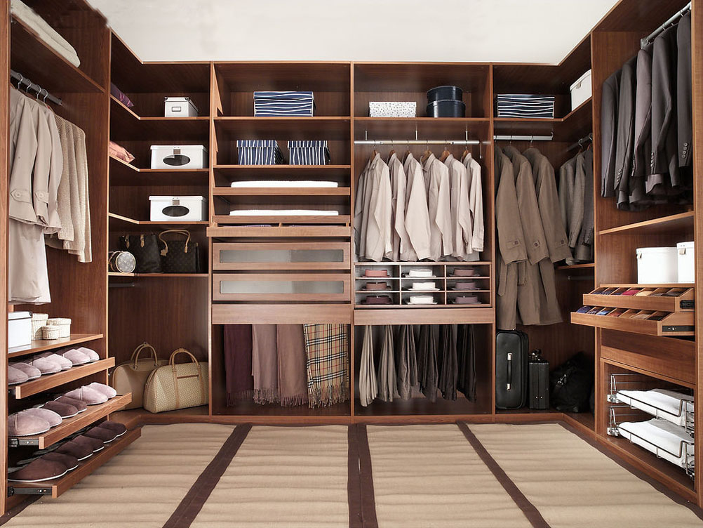 Decorative and practical walk in closets