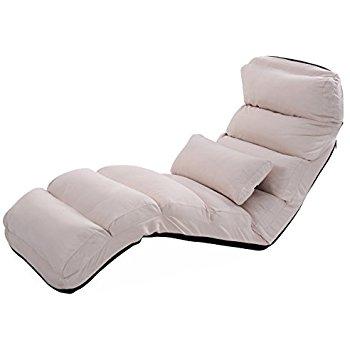 Home Decor giantex folding lazy sofa chair stylish sofa couch beds lounge chair  w/pillow ilhmfuc