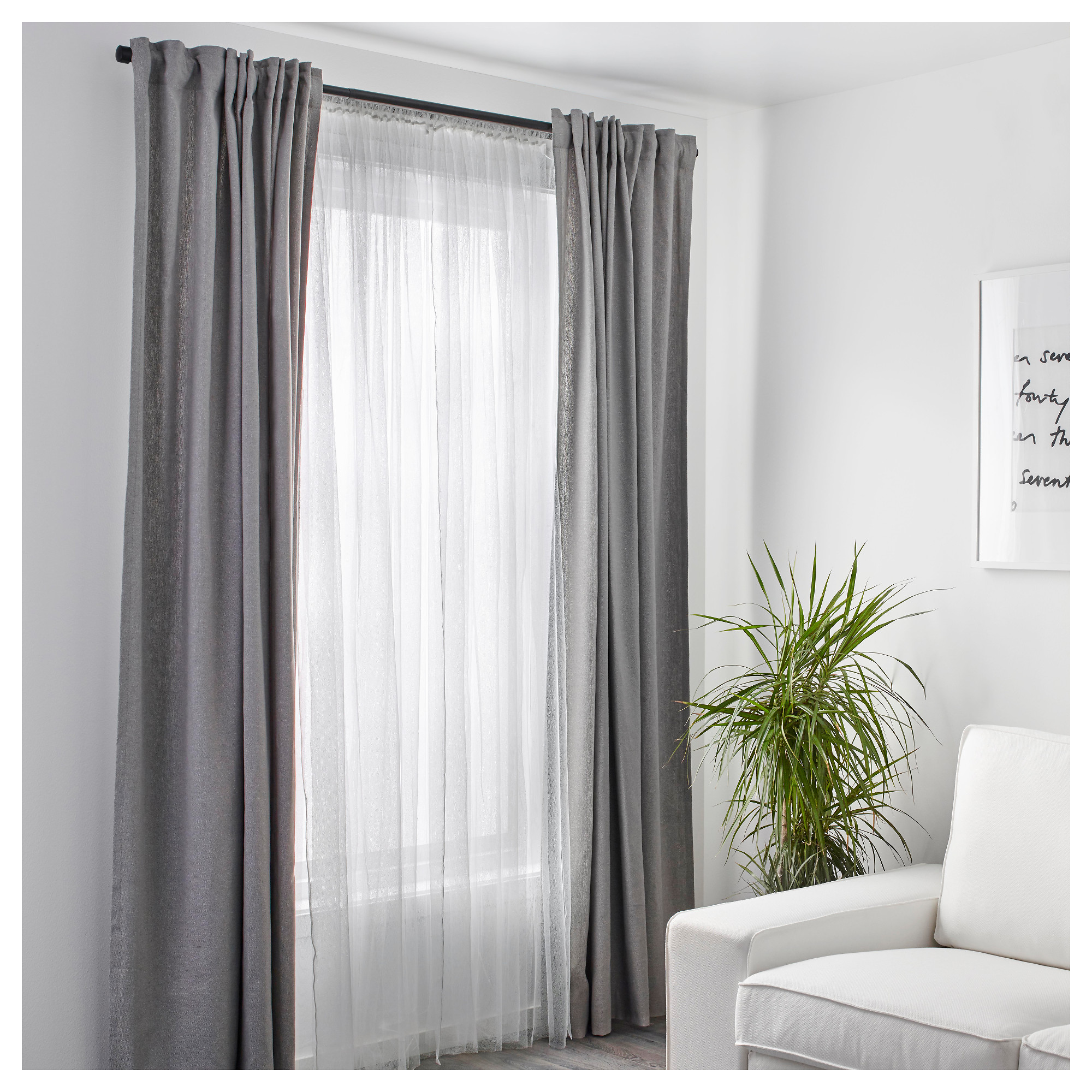Home Decor ikea lill net curtains, 1 pair can be easily cut to the desired uekdkak