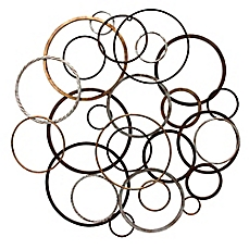 Home Decor image of round ring toss metal wall art ujtovhi