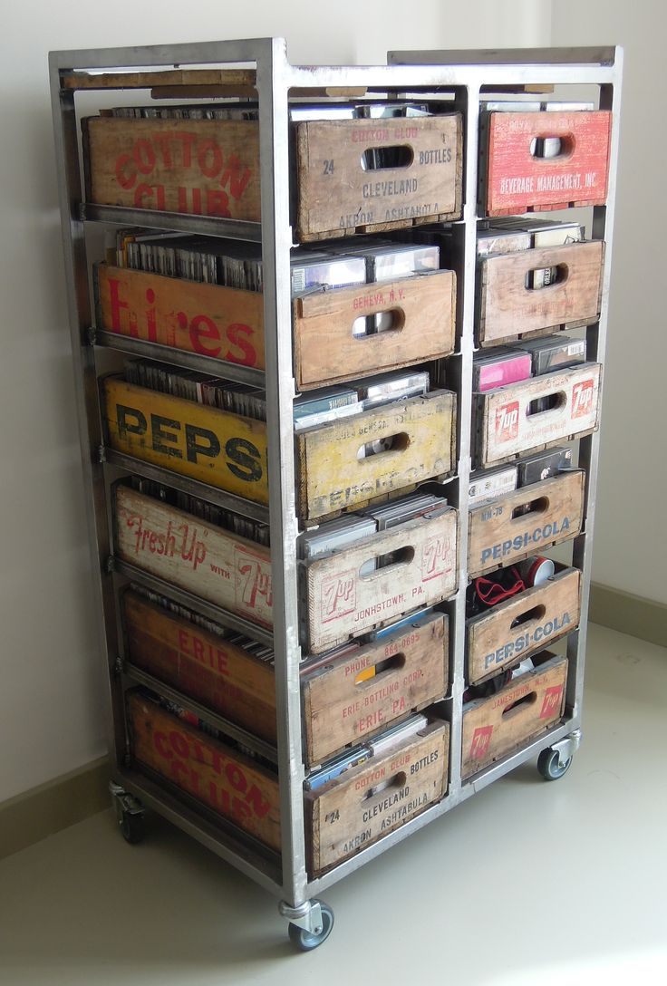 Ideas of cd storage wooden crate craft display - google search sfujxfc