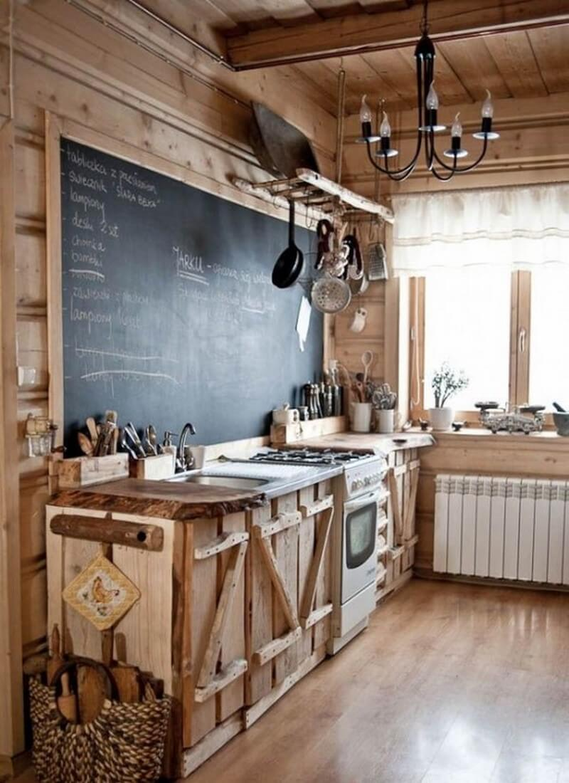 Ideas of country kitchen ideas a chalkboard makes a unique addition to a cabin-style rustic kitchen hejmyrg