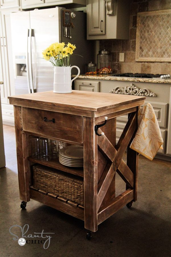Ideas of rolling kitchen island 15 gorgeous diy kitchen islands for every budget foaxlbv